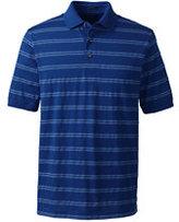 Classic Men's Supima Jacquard Stripe Polo Shirt-Fresh Melon Multi Plaid
