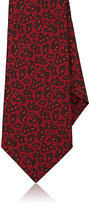 Kiton Men's Paisley Silk Faille Necktie-BURGUNDY, RED