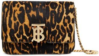 Burberry small leopard print TB shoulder bag