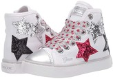 Geox Kids Ciak 71 (Toddler/Little Kid) (White Silver) Girl's Shoes