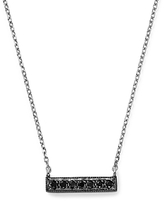 Black Diamond Dana Rebecca Designs Sylvie Rose Mini Bar Necklace in 14K White Gold and Black Rhodium, 16