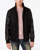 American Rag Wool Bomber Jacket with Pleather Sleeves, Only at Macy's