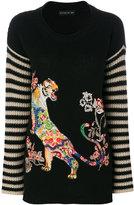 Etro - embroidered tiger jumper -