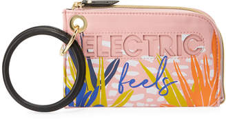 Neiman Marcus Ring-Handle Wristlet Pouch