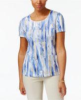 Karen Scott Petite Printed T-Shirt, Created for Macy's