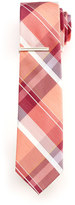 Van Heusen Men's Spring Plaid Skinny Tie With Tie Bar