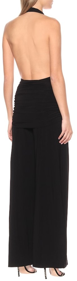 Thumbnail for your product : Norma Kamali Bill halter-neck jersey jumpsuit