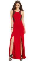 Tempted Juniors' M-Slit Illusion Maxi Dress