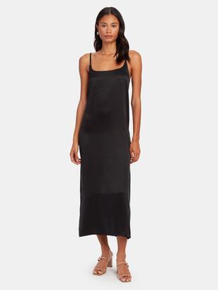 ASCENO Silk Slip Midi Dress