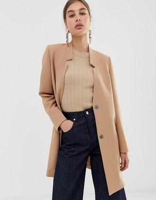 Asos DESIGN coat with notch lapel