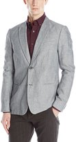 John Varvatos Men's 2 Button Shirting with Peak Lapel Soft Jacket