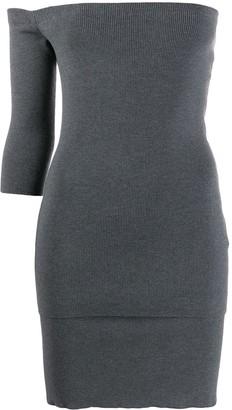 Ports 1961 off-shoulder knitted dress