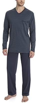 Calida Men's Morris Pyjama Sets, (Space Blue 478)