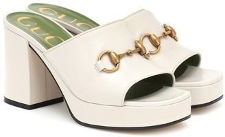 Gucci Horsebit leather platform sandals