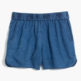 Madewell Pull-On Shorts in Indigo Linen