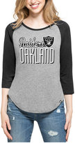 '47 Women's Oakland Raiders Club Block Raglan T-Shirt