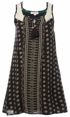 Taylor & Sage Women's Twin Print Lace Trim Dress