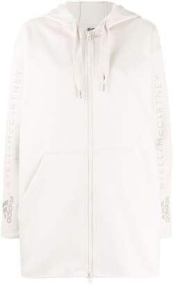 adidas by Stella McCartney Logo-Print Organic-Cotton Zipped Hoodie