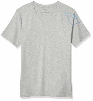 Emporio Armani Men's Thin Eagle Short Sleeve Vneck T-Shirt