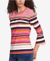 Tommy Hilfiger Bell-Sleeve Top, Created for Macy's
