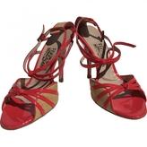 Salvatore Ferragamo Purple Leather Sandals
