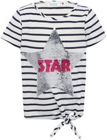 M&Co Two way sequin star top
