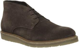 Ask the Missus Inch Wedge Chukka Boots Chocolate Suede