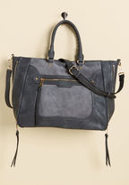 ModCloth Tasks All Over Town Bag in Charcoal