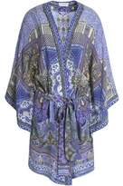 Camilla Embellished Printed Silk Coverup
