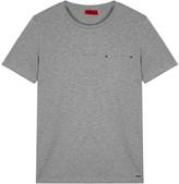 Hugo Dergamo Grey Stretch Cotton T-shirt