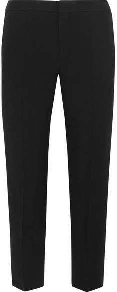 Chloé Cropped Cady Slim-leg Pants - Black