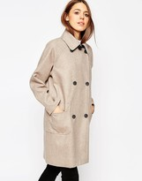 Asos Coat in Cocoon Fit in Bonded Cloth