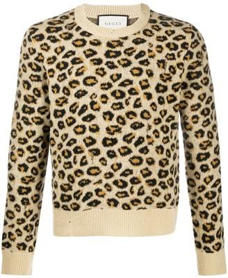 Gucci Leopard Jacquard Jumper