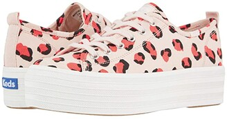 Keds Triple Up Leopard (Light Pink/Coral) Women's Shoes