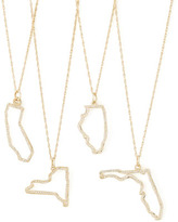 Maya Brenner Designs PAVE DIAMOND STATE NECKLACE