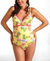 Pez D'or Yellow Waikiki Maternity One-Piece