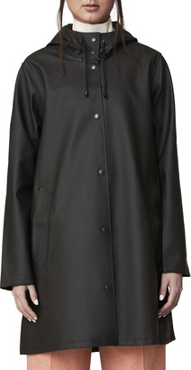 Stutterheim Mosebacke Rubberized Raincoat, Black