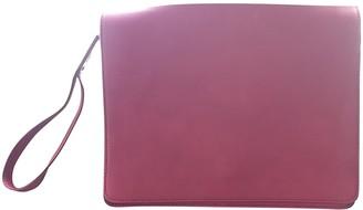 Maison Margiela Burgundy Leather Clutch bags