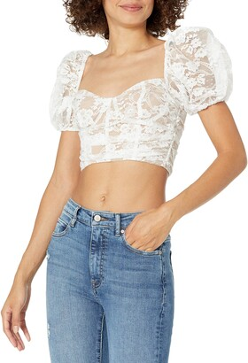 For Love & Lemons Women's Lace Crop top