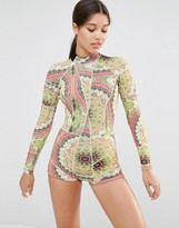 Cynthia Rowley Paisley Print Wetsuit
