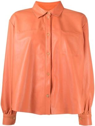 Forte Forte Longsleeved Leather Shirt