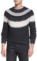 Belstaff Orwell Striped Sweater, Charcoal