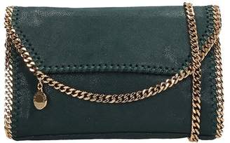 Stella McCartney Falabella Clutch In Green Faux Leather