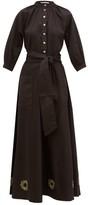 Àcheval Pampa Acheval Pampa - Argentina Sun-embroidered Cotton-blend Dress - Womens - Black