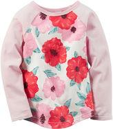 Carter's Long-Sleeve Pink Knit Raglan Fashion Top - Girls 4-8