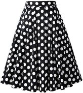 Penelope Vintage 1950s Vintage Retro A-line Printed Swing Rockabilly Skirt (US, )
