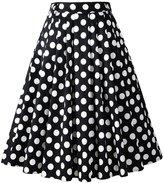 Penelope Vintage 1950s Vintage Retro A-line Printed Swing Rockabilly Skirt (US18, )