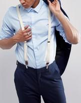 Asos Wedding Suspenders In Yellow
