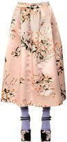 Rochas Floral Printed Duchesse Skirt