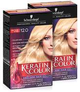 Schwarzkopf Keratin Color Anti-Age Hair Color Cream, (Pack of 2)